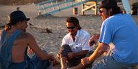 Jameson Stafford on Beach with Sean Penn, Kid Rock Americans